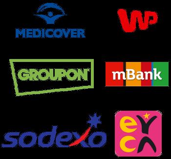 Firmy które zaufały Multikurs: Medicover, WP, Groupon, mBank, Sodexo, Eyca