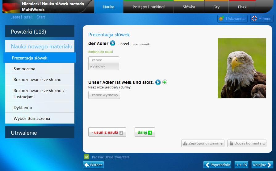 niemiecki nauka słówek